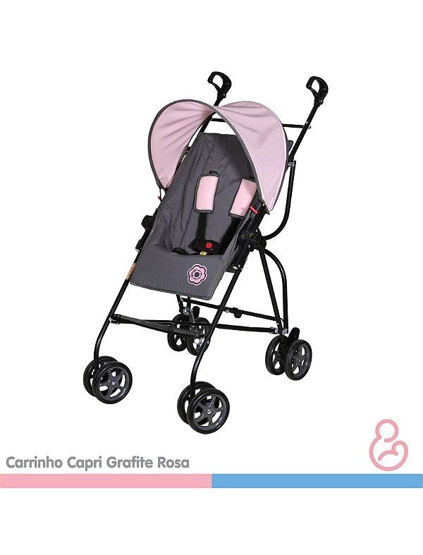Carrinho Capri Preto com rosa - Galzerano