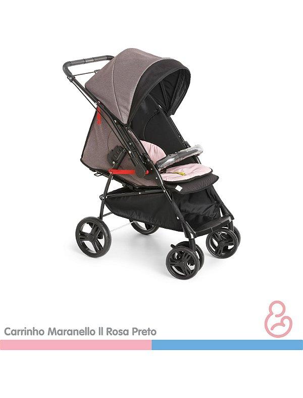 Carrinho Maranello II Rosa e Preto - Galzerano
