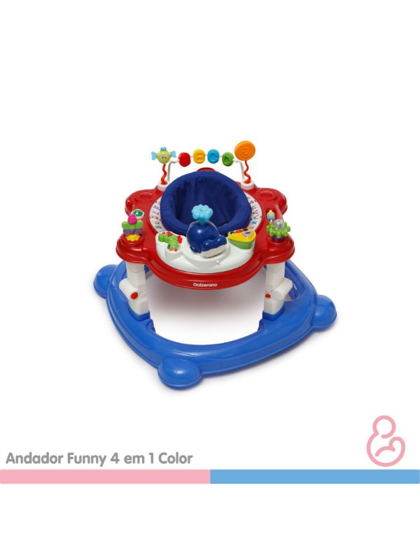 Andador Funny 4 em 1 Color - Galzerano