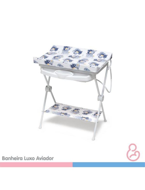 Banheira Bebê plástica luxo Aviador - Galzerano