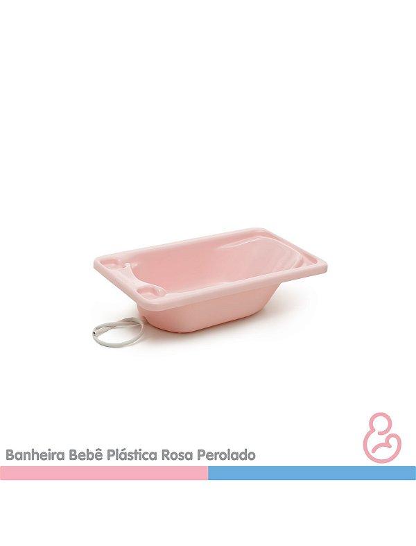 Banheira Bebê Plástica Rosa - SUPORTE VENDIDO SEPARADAMENTE - Galzerano