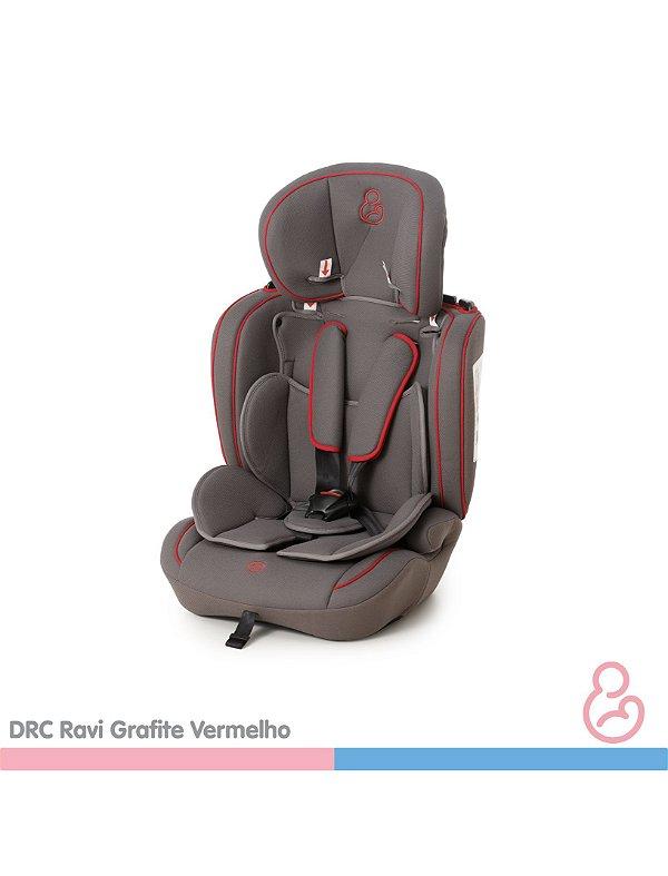 Cadeira auto Ravi Grafite e Vermelho - Galzerano