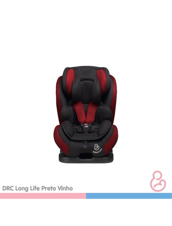 Cadeira auto Long Life Preto com Vinho - Galzerano