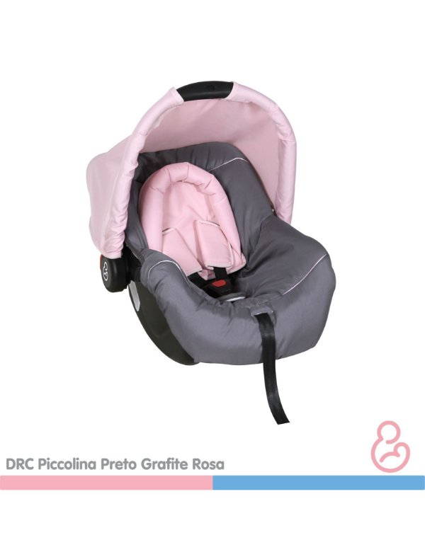 Bebê conforto Piccolina Preto, Grafite e Rosa - Galzerano