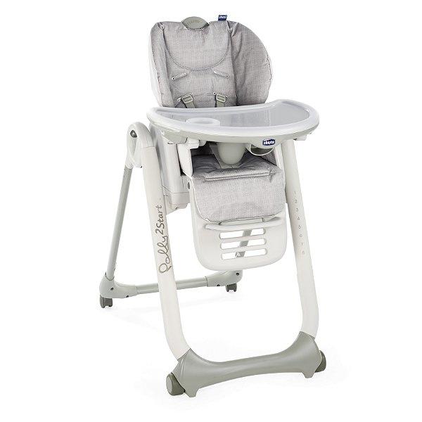 Cadeira de Refeição Polly2Start Happy SIlver -Chicco