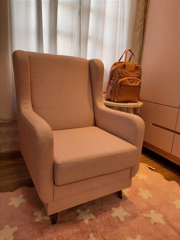 Poltrona para amamentação Áquila fixa Rosa - Itália móveis