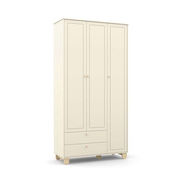 Roupeiro Zupy 03 Portas Off White EcoWood - Matic