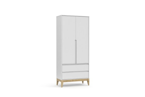 Roupeiro Nature Clean 02 Portas Branco Soft Natural - Matic