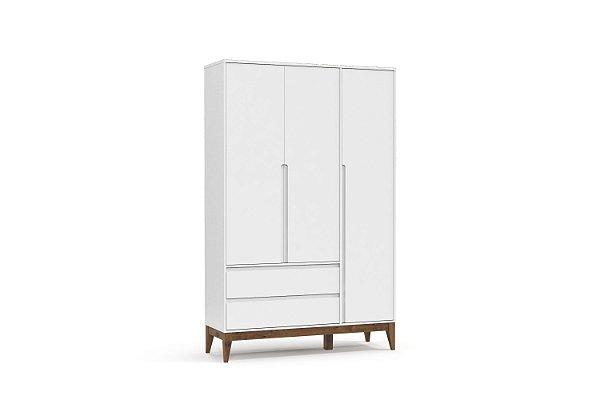Roupeiro Nature Clean 03 Portas Branco Soft EcoWood - Matic