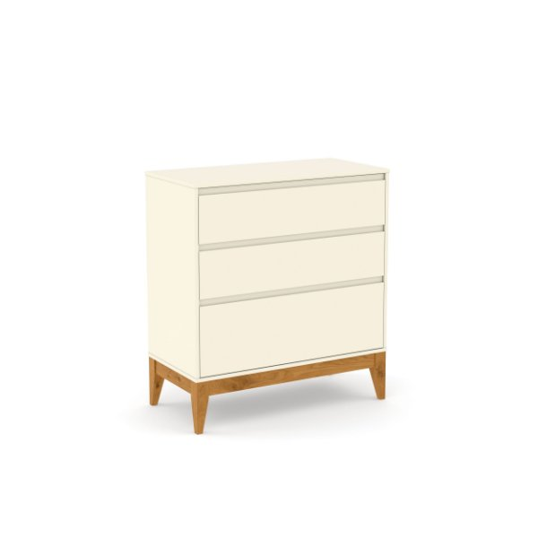 Cômoda Nature Clean Off White EcoWood - Matic