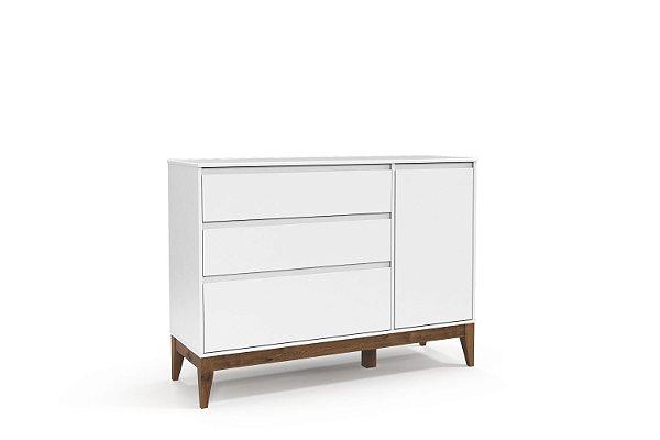 Cômoda Nature Clean com porta Branco Soft EcoWood - Matic