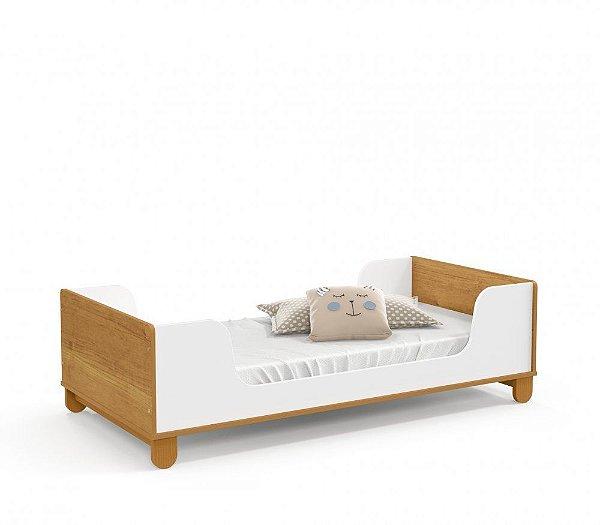 Mini cama Zupy Branco Soft Freijó EcoWood - Matic