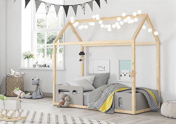 Mini cama Liv Cinza Natural - Matic