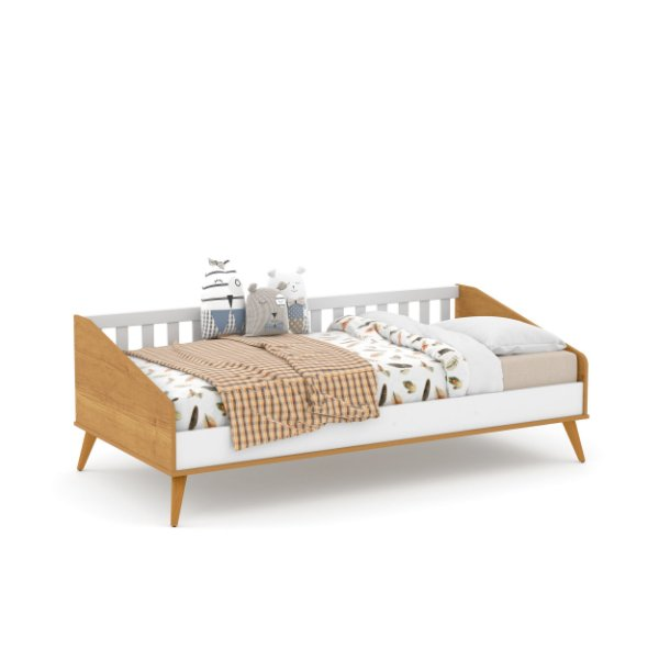 Cama Babá Retrô Branco Soft Freijó EcoWood - Matic
