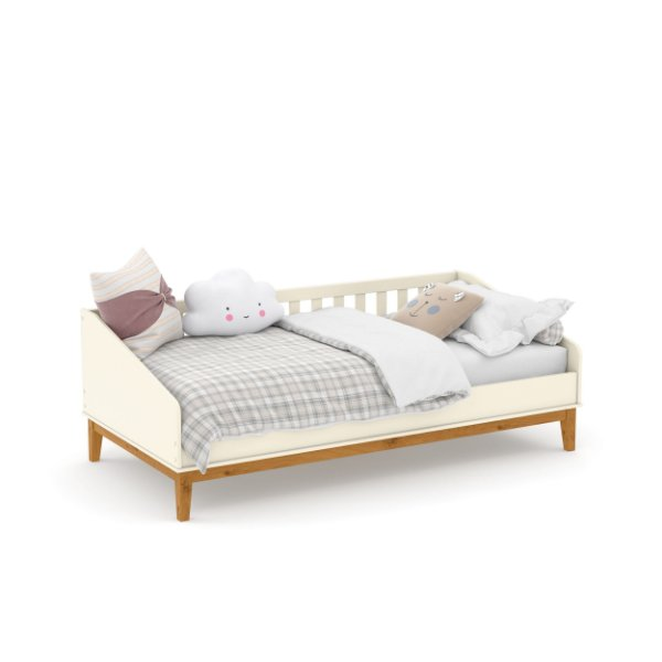 cama babá nature off white ecowood - matic