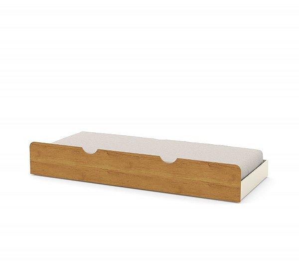 cama auxiliar off white freijó - matic