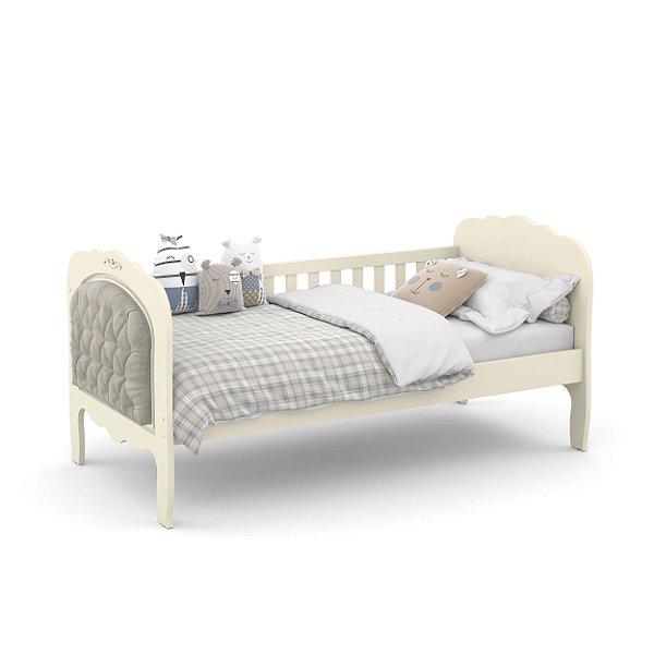 cama baba provence off white com capitonê - matic