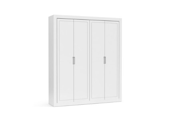 roupeiro tutto new 04 portas branco soft  - matic