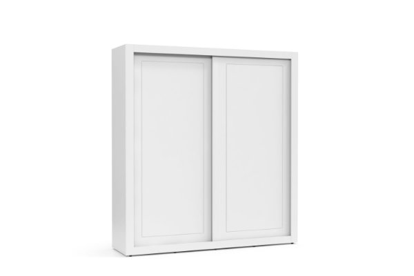 roupeiro tutto new 02 portas/correr branco soft - matic