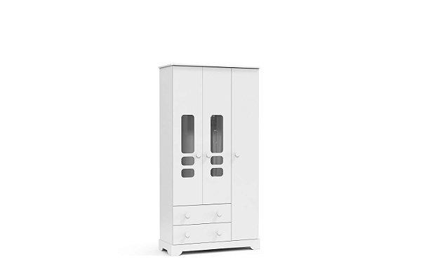 roupeiro smart 03 portas branco brilho  - matic