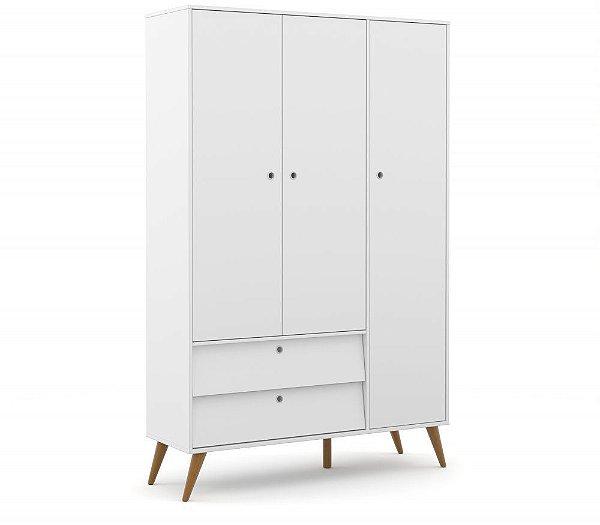 roupeiro gold 03 portas branco soft ecowood - matic