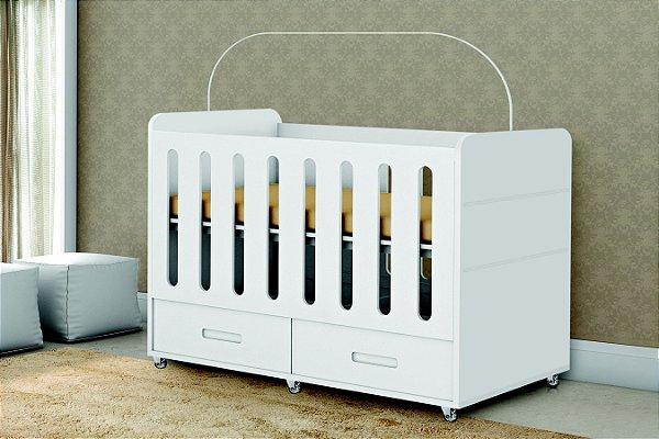 berço dominique branco acetinado - planet baby