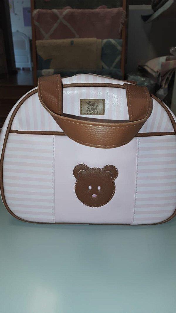 Bolsa de maternidade ursinho rosa - hey baby