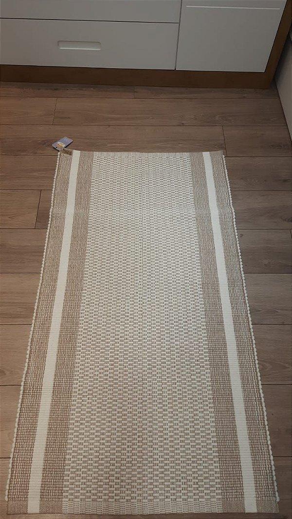 tapete marrom 70 x 130 cm - oficina da roça
