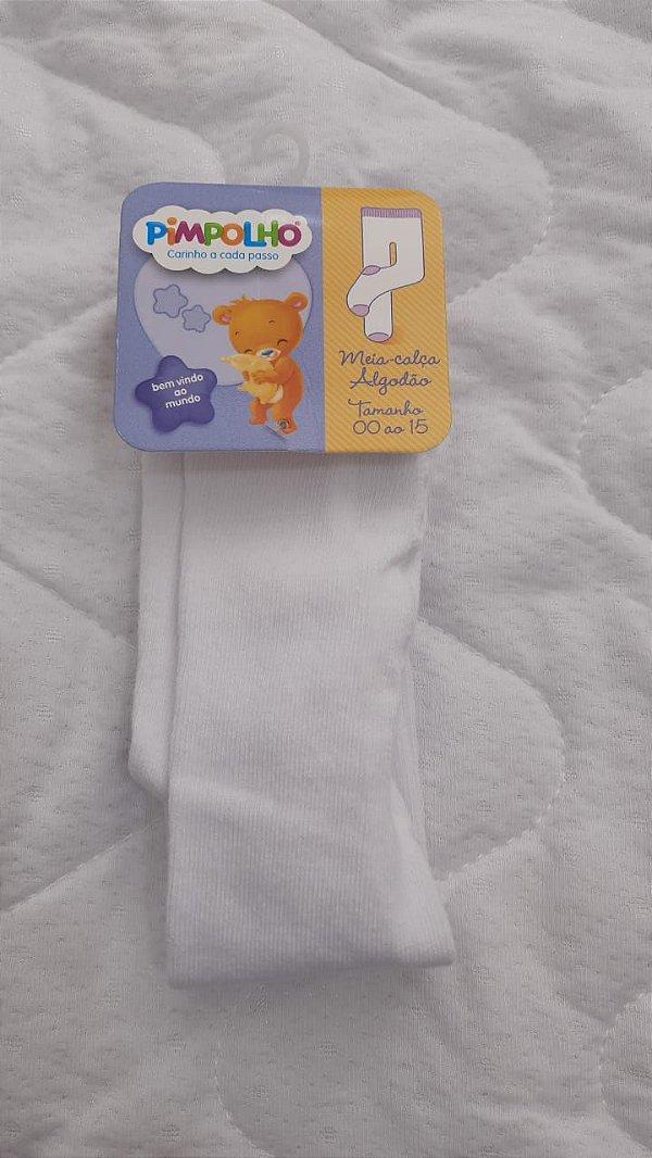 meia calça branca 00 a 15 - pimpolho