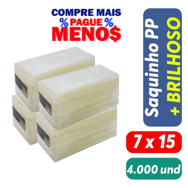 Saco Plástico PP 7x15x0,06 Pct c/ 4.000 und