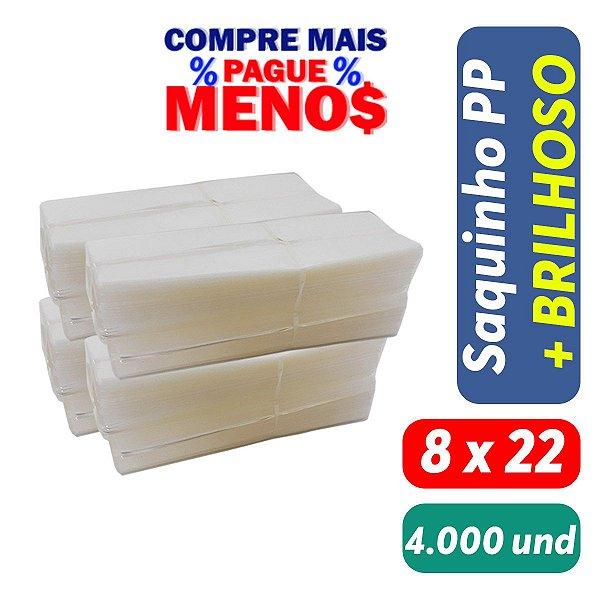 Saco Plástico PP 8x22x0,07 Pct c/ 4.000 und