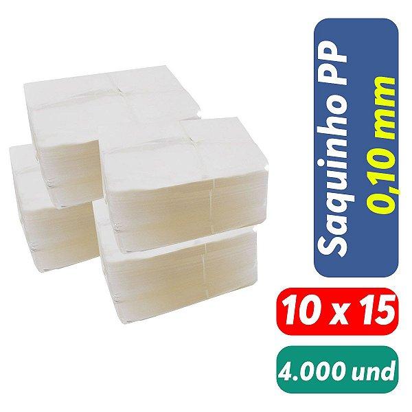 Saco Plástico PP 10x15x0,10 Pct c/ 4.000 und
