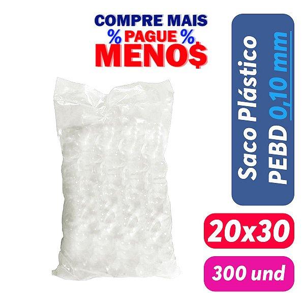 Saco Plástico PEBD 20x30x0,10 Pct c/ 300 und