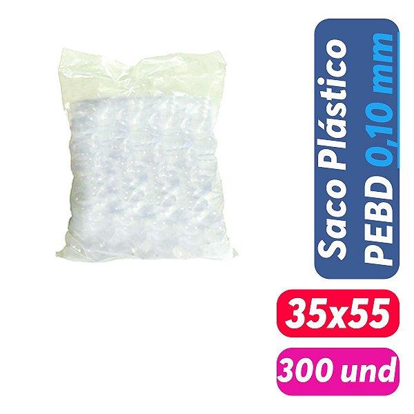 Saco Plástico PEBD 35x55x0,10 Pct c/ 300 und