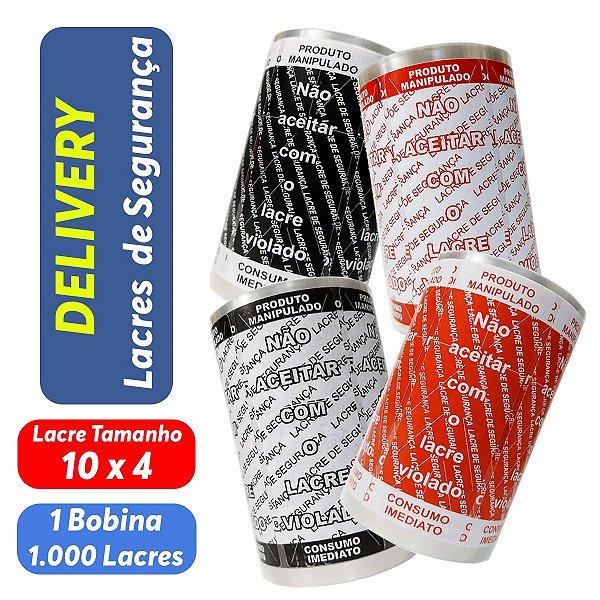 Lacre de Segurança Delivery - 1 Bobina - 1.000 Lacres - UN. (Escolha a Cor)