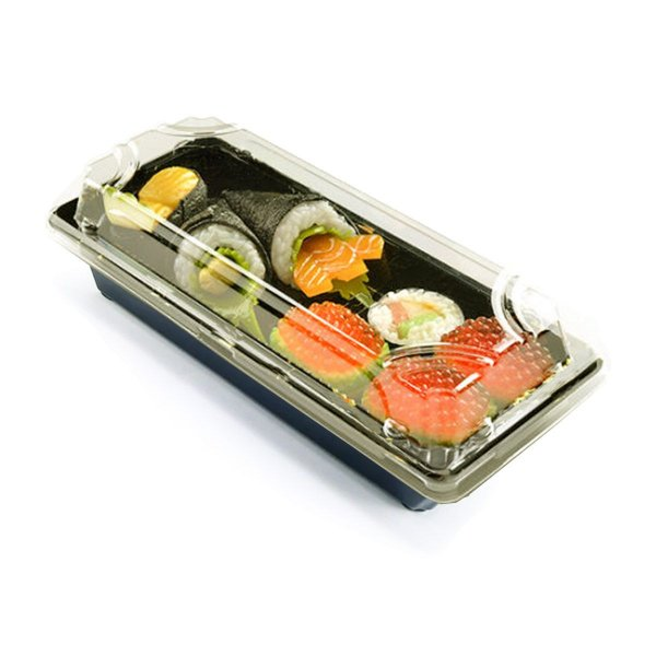 KIT Embalagem Sushi - Bolo de Ripa - Bolo de Tira - 21x9 - Praticpack - Pacote 60 unid