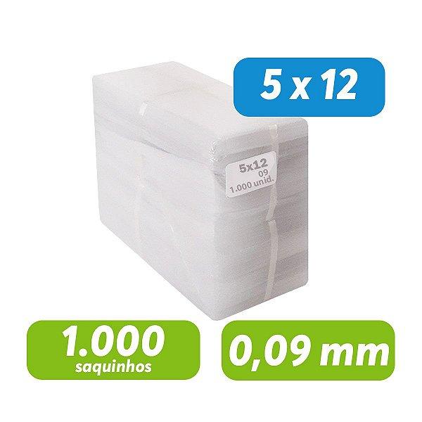 Saco Plástico PEBD 5x12x0,09 Pct c/ 1.000 und