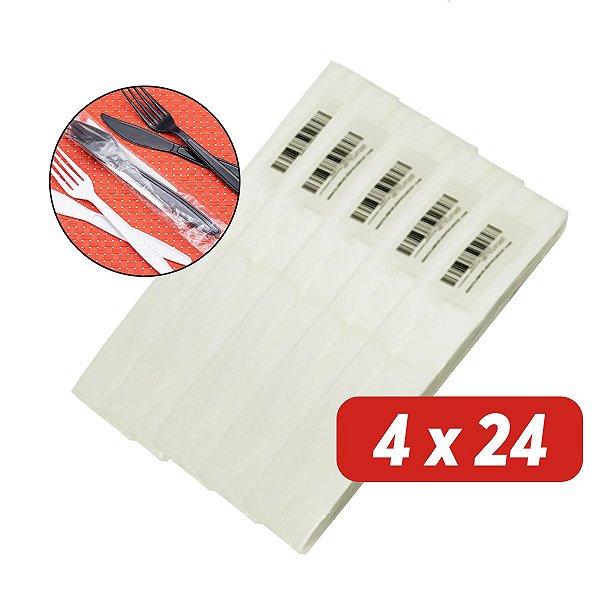 Saco Plástico para Talher - 4x24 - Pct c/ 5.000 unid.