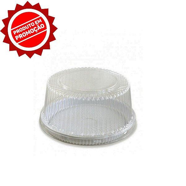 KIT - Embalagem Bolo - PN 35 MEDIO 0,5 Kg - Branco - Praticpack - Pct c/ 50 unid