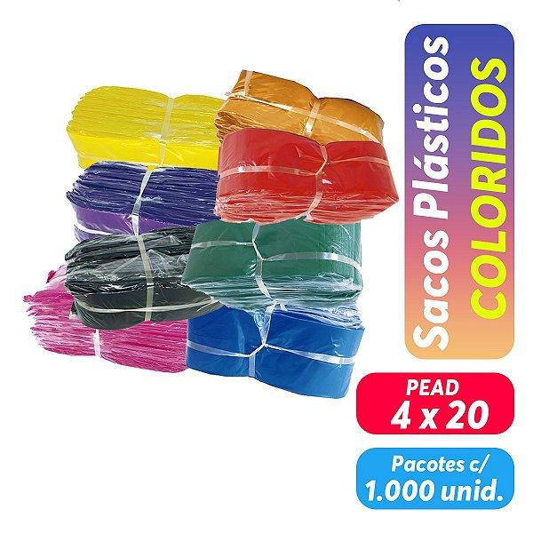 Saco Plástico PEAD/PEMD Coloridos - 4x20 - Pct c/ 1.000