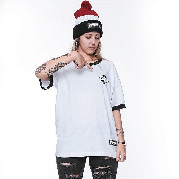 Camiseta Raglan Feminina Branca La Coroa