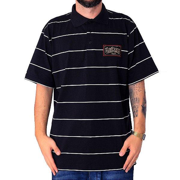 Camiseta Gola Polo La Coroa Listrado