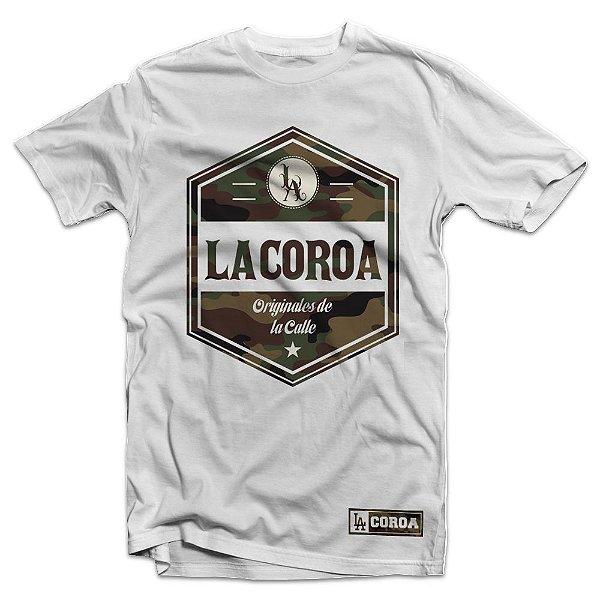 Camiseta Camo | La Coroa  | Branca