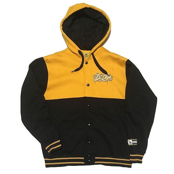 Jaqueta de moletom | preto e amarelo | La Coroa