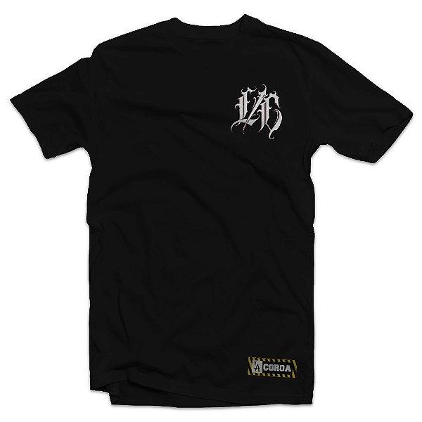 Camiseta  L/C Muller Letter   La Coroa    Preta