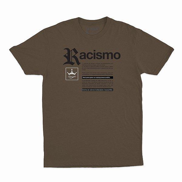 Camiseta Racismo | La Coroa  | Marrom