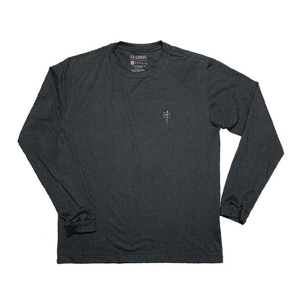 Camiseta Manga Longa Cruz | La Coroa  |Cinza