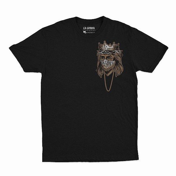Camiseta Jesus | La Coroa  |Preta