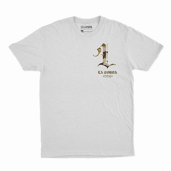 Camiseta L Camo| La Coroa  | Branca