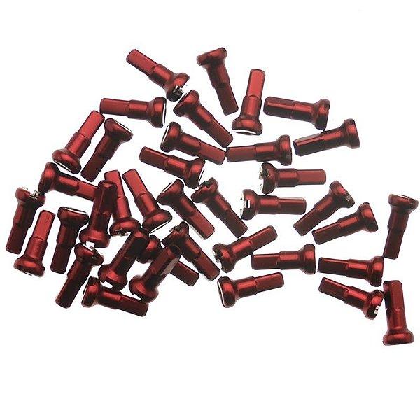 Niple de Alumínio 14mm Vermelho 38 Peças